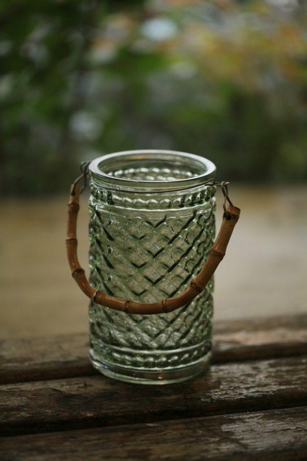 Vase en verre à Arbre à Pivoines, artisan fleuriste à Versailles