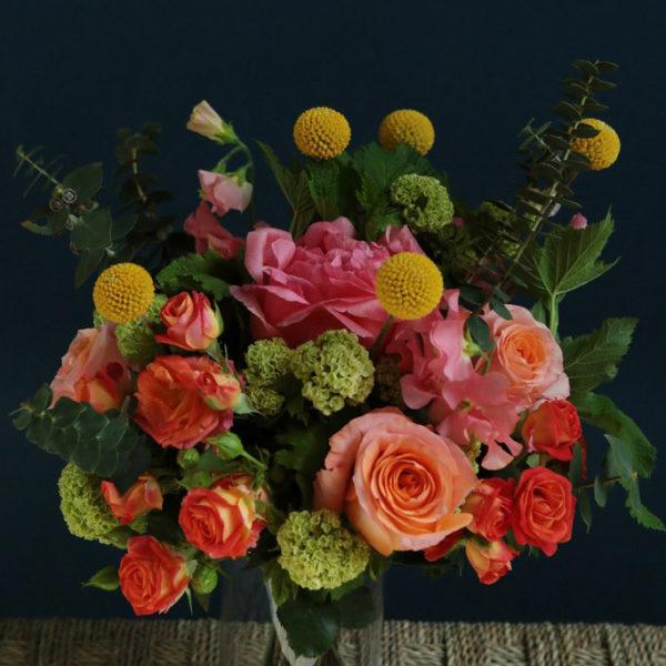 Composition florale Le Hameau par votre artisan fleuriste à Versailles Arbre à Pivoines